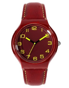 Image 1 ofASOS Fluro Stitch Watch