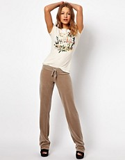 Pantaln de velour con pernera de corte pitillo de Juicy Couture