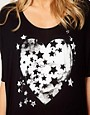 Image 3 ofASOS Maternity Exclusive Dipped Back T-Shirt With Starry Heart