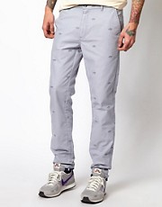 Chinos con estampado de barcos de Libertine Libertine