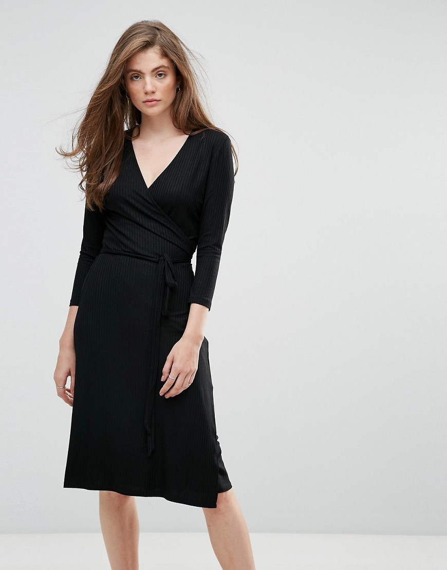 Getsuz Falipa V Neck Midi Dress