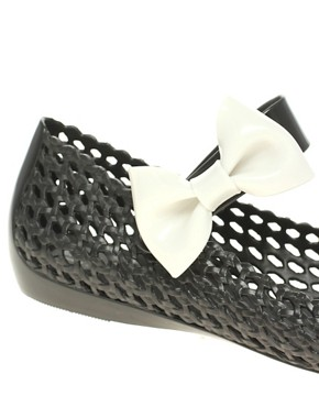 Image 2 ofMelissa Galactic Bow Side Flat Maryjanes