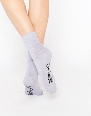 ASOS Bridesmaid Glitter Ankle Socks