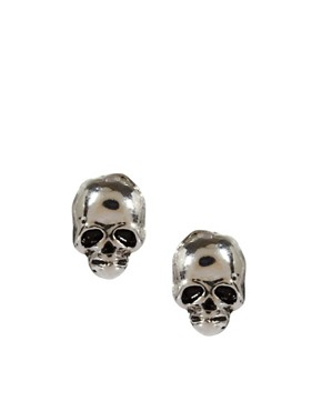 Image 1 ofRiver Island Skull Earrings