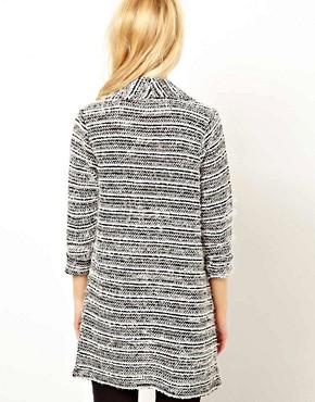 Image 2 ofRiver Island Textured Drape Jacket