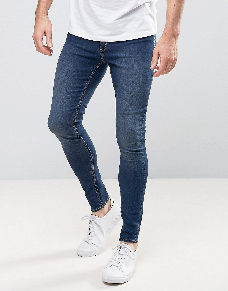 Cheap Monday Mid Spray Jeans In Dim Blue - Dim blue