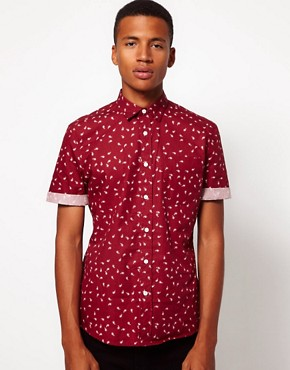 Image 1 ofASOS Shirt With Paisley Print