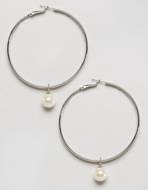 ASOS Double Hoop Charm Earrings