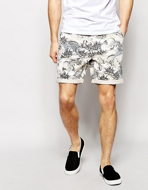 ASOS Chino Shorts With Illustrated Print