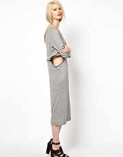 BACK by Ann-Sofie Back Zip Long Sleeve Dress