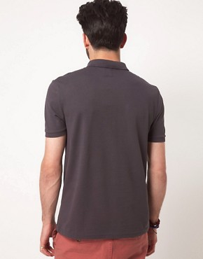 Image 2 ofASOS Polo In Pique Jersey With Button Down Collar