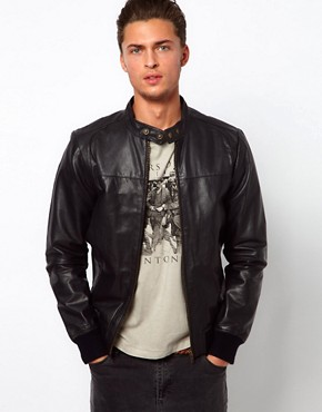 Image 1 ofSelected Biker Leather Jacket