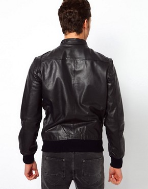 Image 2 ofSelected Biker Leather Jacket