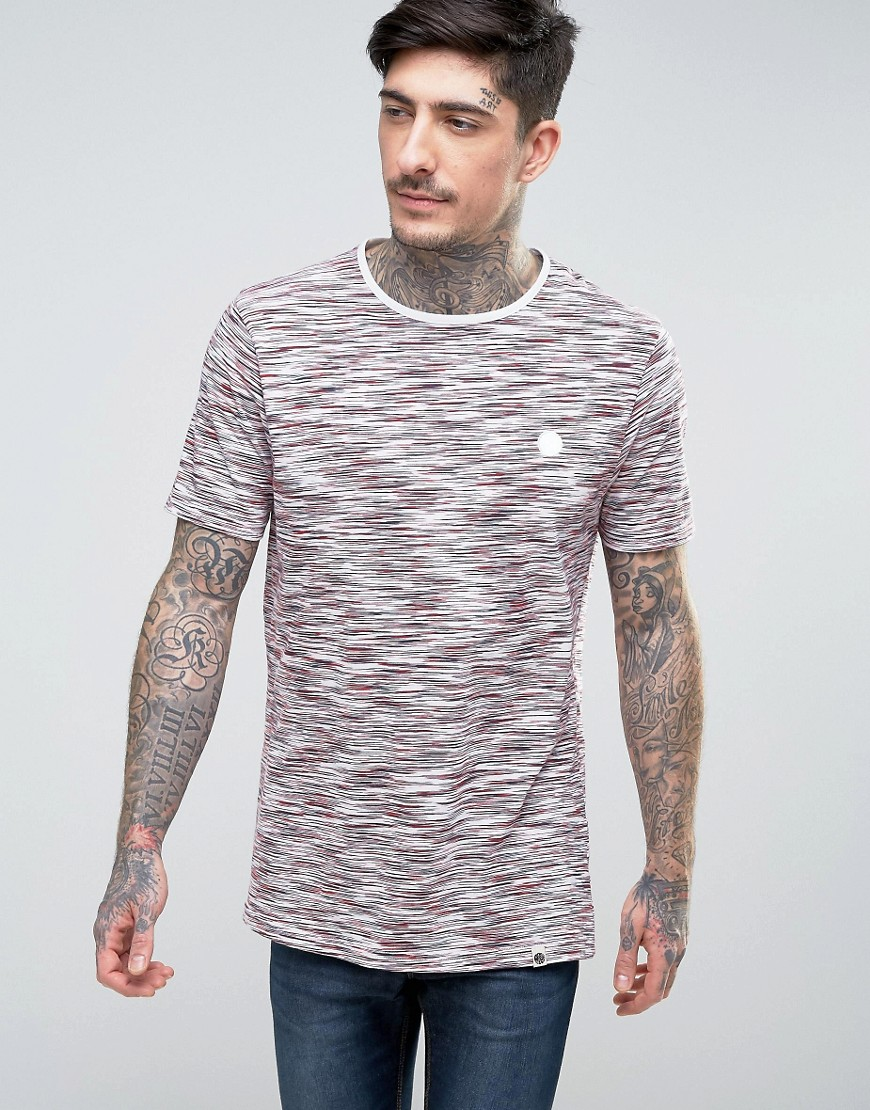 Pretty Green Rosebank T-Shirt Slub Stripe in White - White