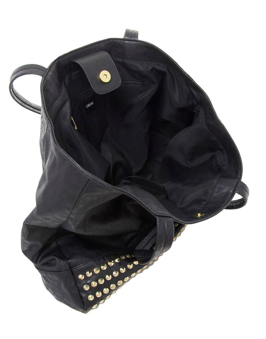Image 4 ofASOS Studded Shopper Bag