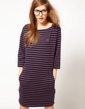 Image 1 ofFred Perry Striped Dress