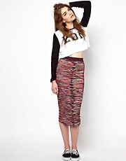 House of Holland Multi Print Tube Skirt