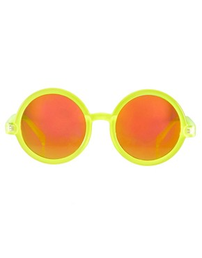 Image 2 ofASOS Round Sunglasses With Pink Mirrored Lens