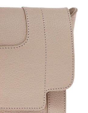 Image 4 ofASOS Premium Leather Square Buckle Clutch