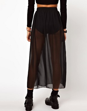 Image 2 ofAmerican Apparel Sheer Maxi Skirt