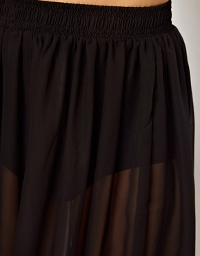 Image 3 ofAmerican Apparel Sheer Maxi Skirt