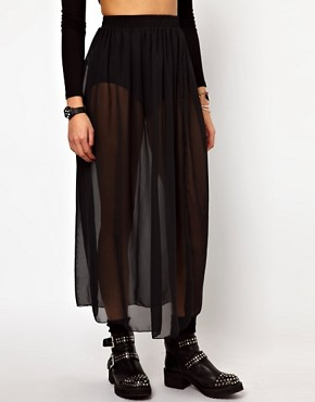 Image 4 ofAmerican Apparel Sheer Maxi Skirt