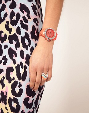 Image 3 ofRiver Island Red Crystal Watch