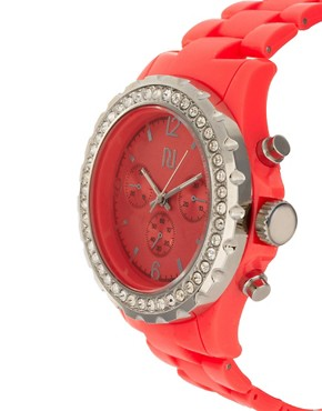 Image 4 ofRiver Island Red Crystal Watch