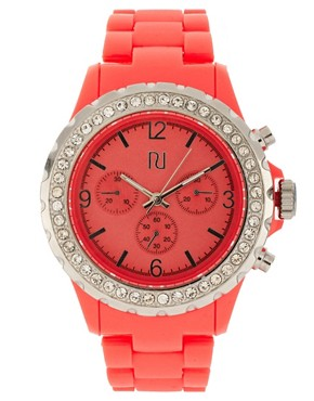 Image 1 ofRiver Island Red Crystal Watch