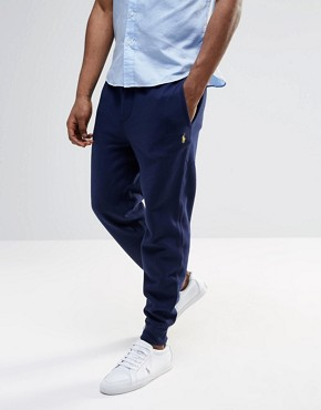 Polo Ralph Lauren Sweatpants With Cuffed Bottom In Navy
