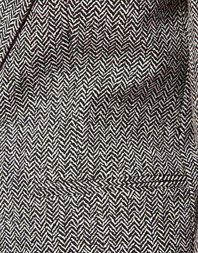 Image 3 ofASOS Blazer in Herringbone Print