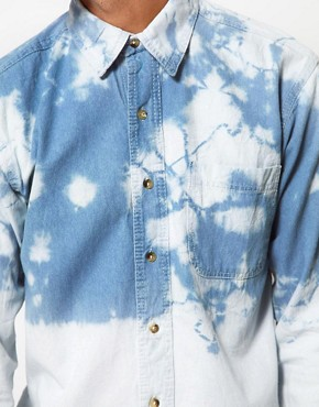 Image 3 ofReclaimed Vintage Denim Shirt with Dip-Dye