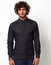 Replay Shirt Denim Western Rinsewash