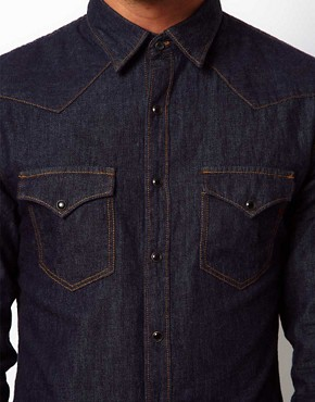 Image 3 ofReplay Shirt Denim Western Rinsewash