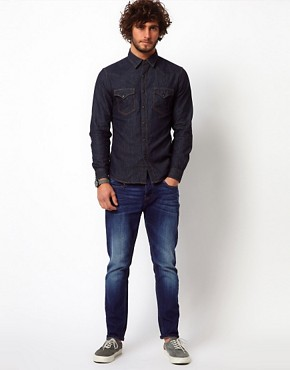 Image 4 ofReplay Shirt Denim Western Rinsewash