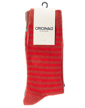 Image 3 ofJack &amp; Jones Dann 5 Pack Socks