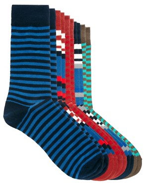 Image 1 ofJack &amp; Jones Dann 5 Pack Socks