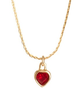 Image 1 ofSusan Caplan Vintage Christian Dior 90s Swarovski Heart Pendant Necklace