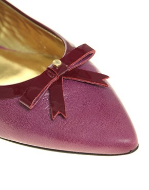 Image 2 ofTed Baker Yeva Leather Flat Shoe With Small Bow