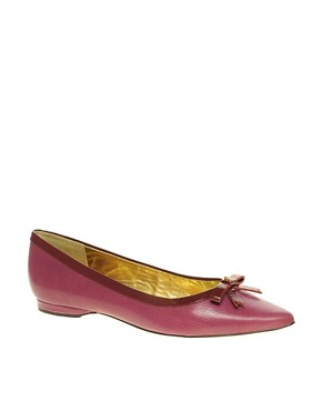 Image 1 ofTed Baker Yeva Leather Flat Shoe With Small Bow
