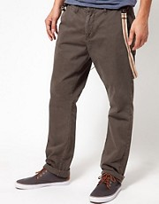 Solid Chinos with Braces