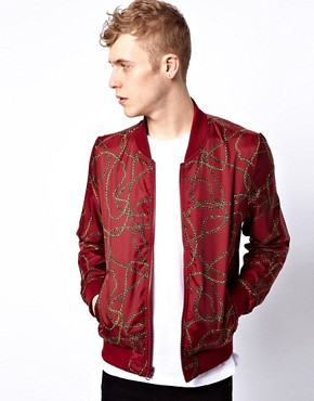 Image 1 ofASOS Reversible Bomber Jacket