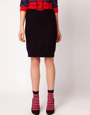 Image 1 ofSonia By Sonia Rykiel Stripe Socks