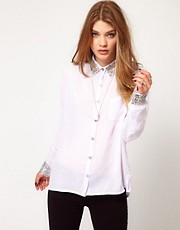 Religion Shirt With Cuff And Collar Detailing