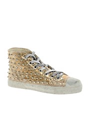 Gienchi Metallic High Top Trainers