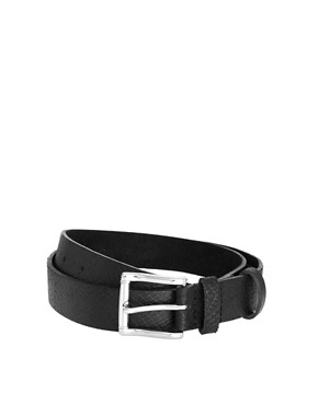 Image 1 ofASOS Mock Snake Leather Belt