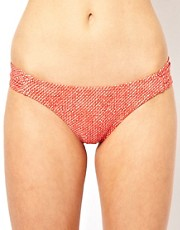 French Connection Oriental Daisy Tab Side Bikini Bottom