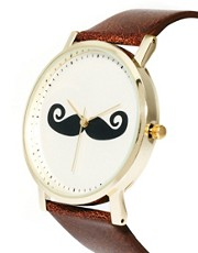 ASOS Moustache Face Watch
