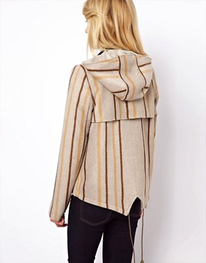 Image 2 ofASOS Blanket Jacket In Stripe