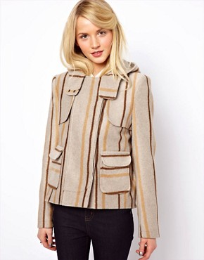 Image 1 ofASOS Blanket Jacket In Stripe